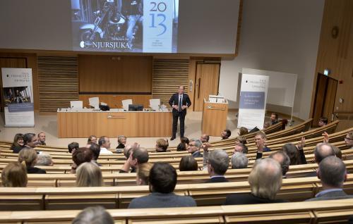 Stipendieutdelningen ägde rum i Sahlgrenskas aula.  Foto: Roger Lundsten