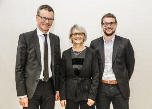 2016 års stipendiater Anders Christensson, Ingela Fehrman-Ekholm samt Daniel Espes